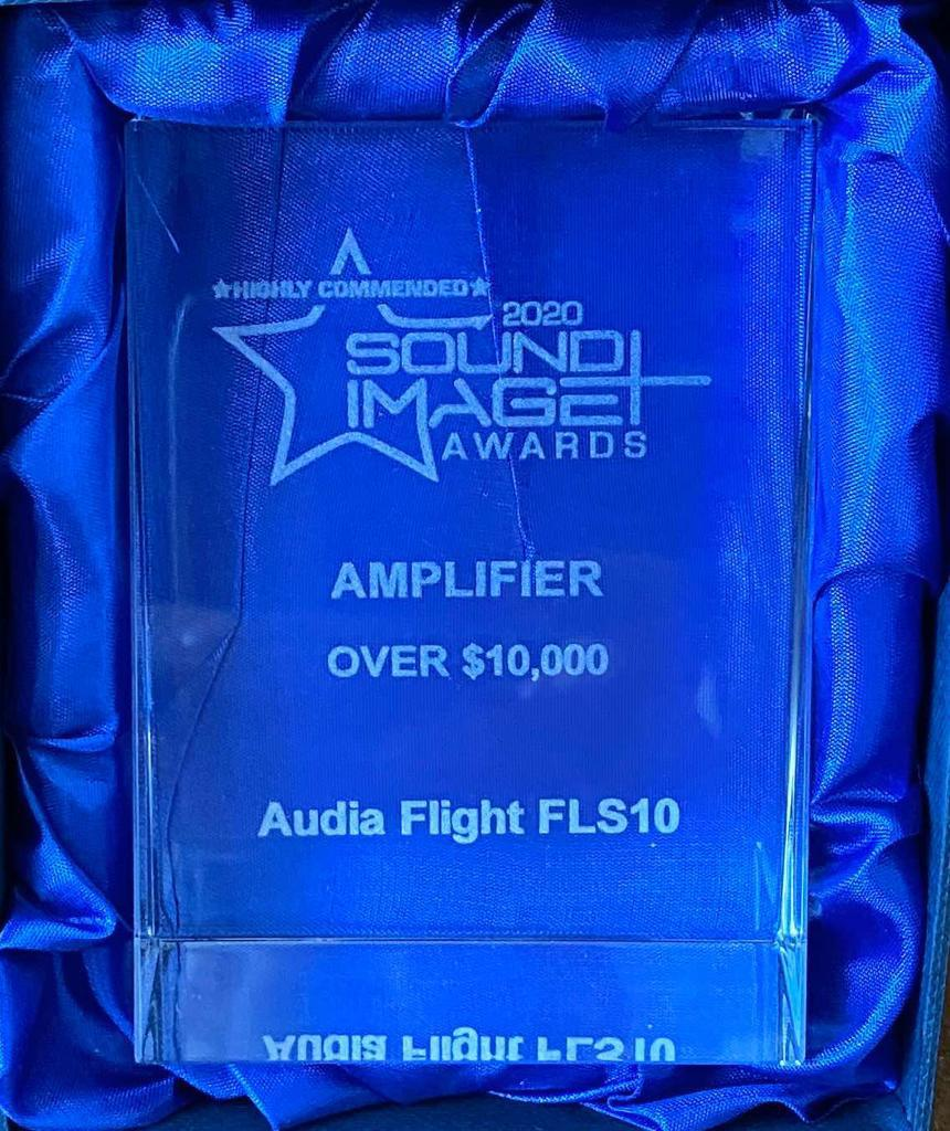Audia Flight FLS10 receives the award as the best amplifier over $ 10.000 from Sound Image from Australia - News - Audia